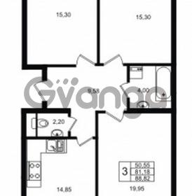 Продается квартира 3-ком 88 м² Ропшинское шоссе 1, метро Проспект Ветеранов