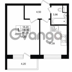 Продается квартира 1-ком 40 м² Ропшинское шоссе 1, метро Проспект Ветеранов