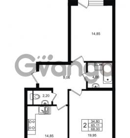 Продается квартира 2-ком 68 м² Ропшинское шоссе 1, метро Проспект Ветеранов