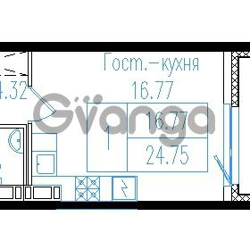 Продается квартира 1-ком 26.8 м² проспект Обуховской обороны 195, метро Пролетарская