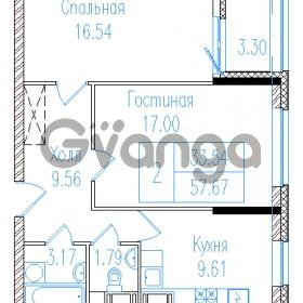 Продается квартира 2-ком 59.32 м² проспект Обуховской обороны 195, метро Пролетарская