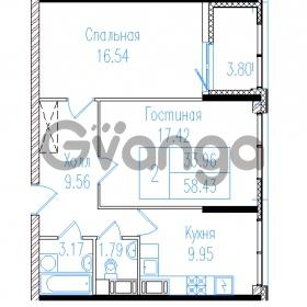 Продается квартира 2-ком 60.33 м² проспект Обуховской обороны 195, метро Пролетарская