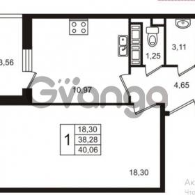 Продается квартира 1-ком 38 м² улица Пионерстроя 29, метро Проспект Ветеранов