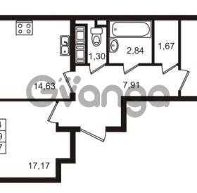 Продается квартира 2-ком 57 м² улица Пионерстроя 29, метро Проспект Ветеранов