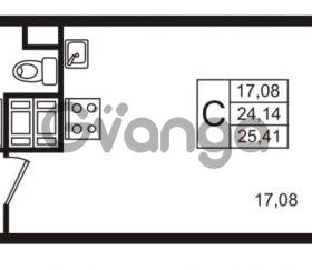 Продается квартира 1-ком 24 м² улица Пионерстроя 29, метро Проспект Ветеранов