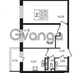 Продается квартира 2-ком 53 м² улица Пионерстроя 29, метро Проспект Ветеранов