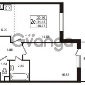Продается квартира 1-ком 44 м² улица Пионерстроя 29, метро Проспект Ветеранов