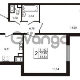 Продается квартира 2-ком 52 м² улица Пионерстроя 29, метро Проспект Ветеранов