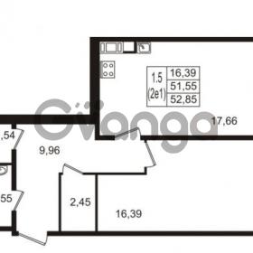 Продается квартира 1-ком 51 м² улица Пионерстроя 27, метро Проспект Ветеранов