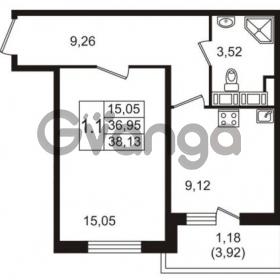 Продается квартира 1-ком 36 м² улица Пионерстроя 27, метро Проспект Ветеранов