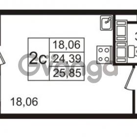 Продается квартира 1-ком 24 м² улица Пионерстроя 27, метро Проспект Ветеранов