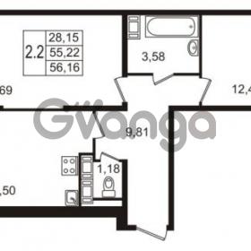 Продается квартира 2-ком 55 м² улица Пионерстроя 27, метро Проспект Ветеранов