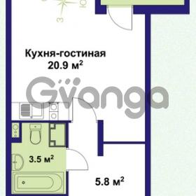 Продается квартира 1-ком 31 м² улица Крыленко 1, метро Улица Дыбенко