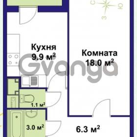 Продается квартира 1-ком 39 м² улица Крыленко 1, метро Улица Дыбенко