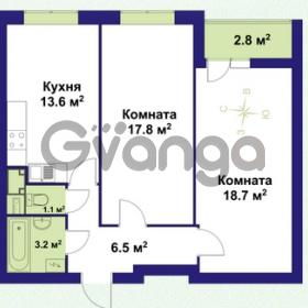 Продается квартира 2-ком 62 м² улица Крыленко 1, метро Улица Дыбенко