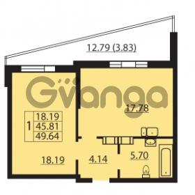 Продается квартира 1-ком 49.64 м² Балтийский бульвар 1, метро Проспект Ветеранов