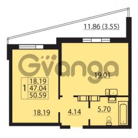 Продается квартира 1-ком 50.59 м² Балтийский бульвар 1, метро Проспект Ветеранов