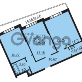 Продается квартира 2-ком 73.25 м² Балтийский бульвар 1, метро Проспект Ветеранов
