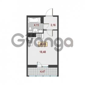 Продается квартира 1-ком 28.03 м² Немецкая улица 1, метро Улица Дыбенко