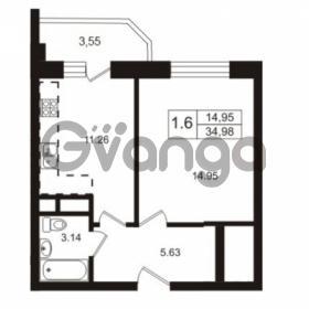 Продается квартира 1-ком 34.98 м² Школьная улица 7к 2, метро Купчино