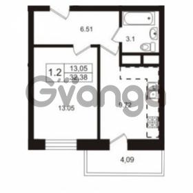 Продается квартира 1-ком 32.38 м² Школьная улица 7к 2, метро Купчино