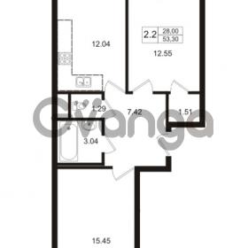 Продается квартира 2-ком 53.3 м² Школьная улица 7к 2, метро Купчино