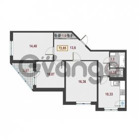 Продается квартира 3-ком 72.85 м² Европейский проспект 1, метро Улица Дыбенко