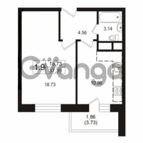 Продается квартира 1-ком 37.2 м² Школьная улица 7к 2, метро Купчино