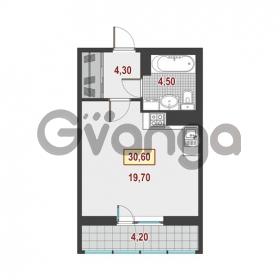Продается квартира 1-ком 30.6 м² Немецкая улица 1, метро Улица Дыбенко