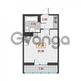 Продается квартира 1-ком 31 м² Немецкая улица 1, метро Улица Дыбенко