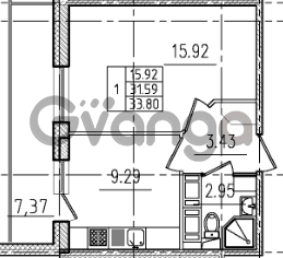 Продается квартира 1-ком 33 м² Венская улица 4к 2, метро Улица Дыбенко