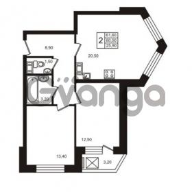 Продается квартира 2-ком 61.6 м² шоссе в Лаврики 83, метро Девяткино