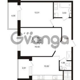 Продается квартира 2-ком 52 м² проспект Строителей 1, метро Улица Дыбенко