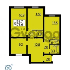 Продается квартира 1-ком 78.3 м² Муринская дорога 7, метро Гражданский проспект