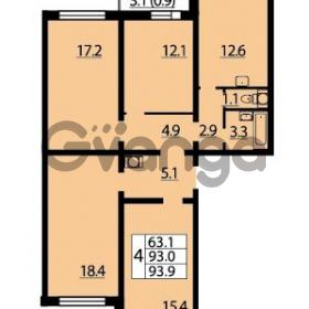Продается квартира 4-ком 93.9 м² Муринская дорога 7, метро Гражданский проспект
