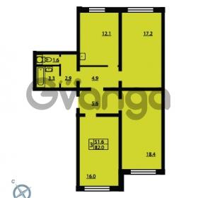 Продается квартира 3-ком 82 м² Муринская дорога 7, метро Гражданский проспект