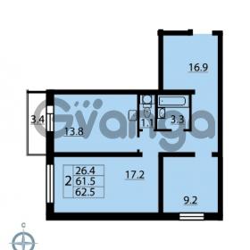 Продается квартира 2-ком 62.5 м² Муринская дорога 7, метро Гражданский проспект