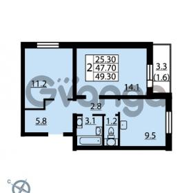 Продается квартира 2-ком 49.3 м² Муринская дорога 7, метро Гражданский проспект