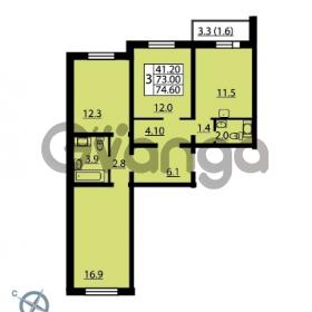 Продается квартира 3-ком 74.6 м² Муринская дорога 7, метро Гражданский проспект