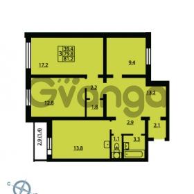 Продается квартира 3-ком 81.5 м² Муринская дорога 7, метро Гражданский проспект
