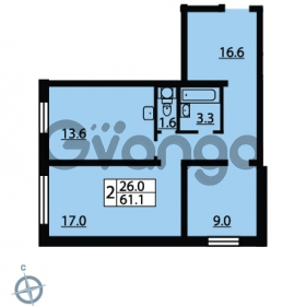 Продается квартира 2-ком 60.5 м² Муринская дорога 7, метро Гражданский проспект