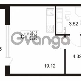 Продается квартира 1-ком 26 м² Европейский проспект 11, метро Улица Дыбенко
