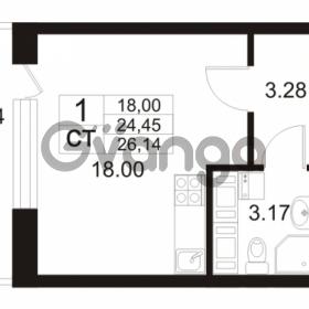 Продается квартира 1-ком 24 м² Европейский проспект 11, метро Улица Дыбенко