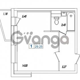 Продается квартира 1-ком 29.25 м² Европейский проспект 14к 1, метро Улица Дыбенко