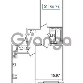 Продается квартира 1-ком 56.71 м² Европейский проспект 14, метро Улица Дыбенко