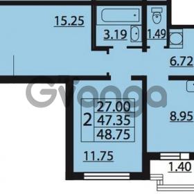 Продается квартира 2-ком 48.75 м² Парашютная улица 54, метро Комендантский проспект