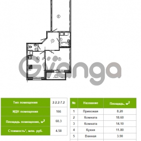 Продается квартира 2-ком 60 м² Русановская улица 17к 1, метро Пролетарская