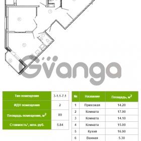 Продается квартира 3-ком 89 м² Русановская улица 17к 1, метро Пролетарская