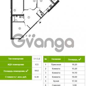 Продается квартира 3-ком 94 м² Русановская улица 17к 1, метро Пролетарская