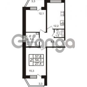 Продается квартира 2-ком 57.8 м² Колтушское шоссе 66, метро Ладожская